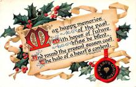hol052989 - Christmas Postcard Old Vintage Antique Post Card