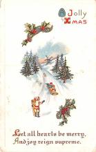 hol052995 - Christmas Postcard Old Vintage Antique Post Card