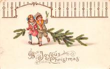 hol052997 - Christmas Postcard Old Vintage Antique Post Card