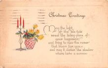 hol053001 - Christmas Postcard Old Vintage Antique Post Card