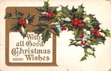 hol053003 - Christmas Postcard Old Vintage Antique Post Card