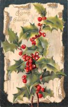hol053007 - Christmas Postcard Old Vintage Antique Post Card