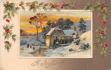 hol053011 - Christmas Postcard Old Vintage Antique Post Card