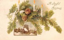 hol053017 - Christmas Postcard Old Vintage Antique Post Card
