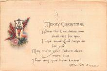 hol053019 - Christmas Postcard Old Vintage Antique Post Card