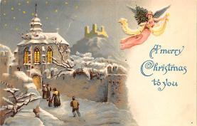 hol053025 - Christmas Postcard Old Vintage Antique Post Card