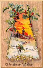 hol053029 - Christmas Postcard Old Vintage Antique Post Card
