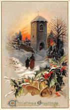 hol053037 - Christmas Postcard Old Vintage Antique Post Card