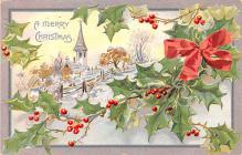 hol053039 - Christmas Postcard Old Vintage Antique Post Card