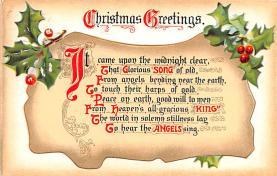 hol053041 - Christmas Postcard Old Vintage Antique Post Card