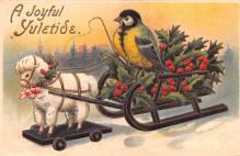 hol053045 - Christmas Postcard Old Vintage Antique Post Card