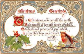 hol053047 - Christmas Postcard Old Vintage Antique Post Card