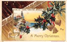 hol053049 - Christmas Postcard Old Vintage Antique Post Card