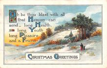 hol053051 - Christmas Postcard Old Vintage Antique Post Card