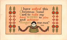 hol053053 - Christmas Postcard Old Vintage Antique Post Card