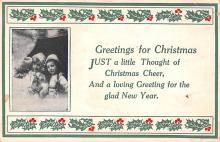 hol053055 - Christmas Postcard Old Vintage Antique Post Card