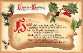 hol053057 - Christmas Postcard Old Vintage Antique Post Card
