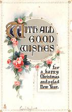 hol053059 - Christmas Postcard Old Vintage Antique Post Card