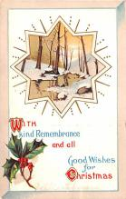 hol053061 - Christmas Postcard Old Vintage Antique Post Card