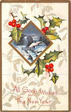 hol053063 - Christmas Postcard Old Vintage Antique Post Card