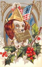 hol053069 - Christmas Postcard Old Vintage Antique Post Card