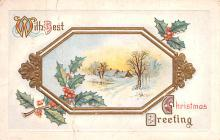 hol053071 - Christmas Postcard Old Vintage Antique Post Card