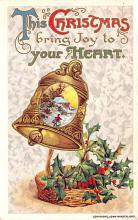 hol053075 - Christmas Postcard Old Vintage Antique Post Card