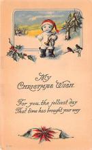 hol053077 - Christmas Postcard Old Vintage Antique Post Card