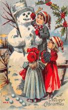 hol053079 - Christmas Postcard Old Vintage Antique Post Card