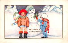 hol053081 - Christmas Postcard Old Vintage Antique Post Card