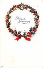hol053085 - Christmas Postcard Old Vintage Antique Post Card