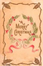 hol053087 - Christmas Postcard Old Vintage Antique Post Card