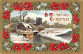 hol053097 - Christmas Postcard Old Vintage Antique Post Card