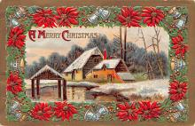 hol053099 - Christmas Postcard Old Vintage Antique Post Card