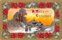 hol053101 - Christmas Postcard Old Vintage Antique Post Card