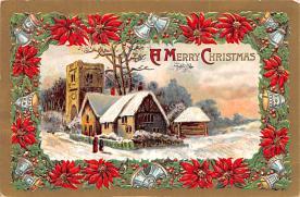 hol053103 - Christmas Postcard Old Vintage Antique Post Card