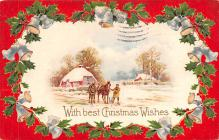 hol053105 - Christmas Postcard Old Vintage Antique Post Card