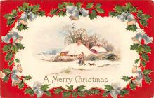 hol053109 - Christmas Postcard Old Vintage Antique Post Card