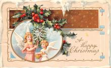 hol053113 - Christmas Postcard Old Vintage Antique Post Card