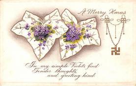 hol053117 - Christmas Postcard Old Vintage Antique Post Card