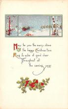 hol053119 - Christmas Postcard Old Vintage Antique Post Card