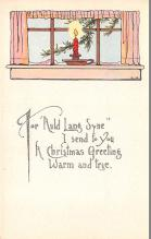 hol053121 - Christmas Postcard Old Vintage Antique Post Card