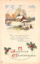 hol053129 - Christmas Postcard Old Vintage Antique Post Card