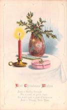 hol053133 - Christmas Postcard Old Vintage Antique Post Card