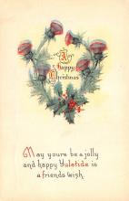 hol053137 - Christmas Postcard Old Vintage Antique Post Card