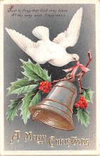 hol053143 - Christmas Postcard Old Vintage Antique Post Card