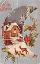 hol053145 - Christmas Postcard Old Vintage Antique Post Card