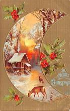 hol053149 - Christmas Postcard Old Vintage Antique Post Card