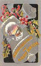 hol053163 - Christmas Postcard Old Vintage Antique Post Card