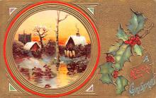 hol053177 - Christmas Postcard Old Vintage Antique Post Card